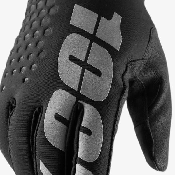 Gants Motocross 100% HYDROMATIC BRISKER Black