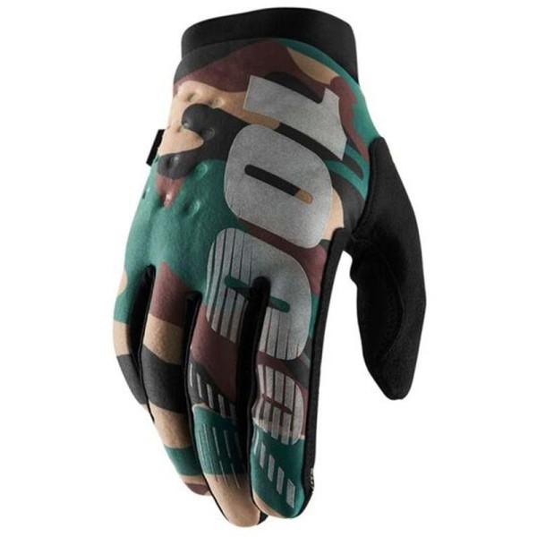 Motocross Gloves 100% BRISKER Camo Black