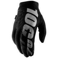 Motocross Gloves 100% BRISKER Black Grey