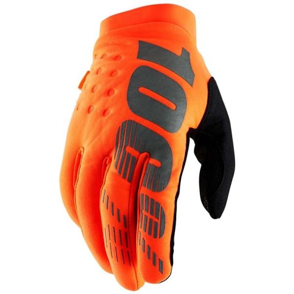 Motocross-Handschuhe 100% BRISKER Orange