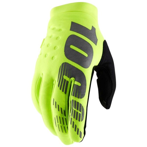 Guantes Motocross 100% BRISKER Fluo Yellow