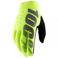 Motocross Gloves 100% BRISKER Fluo Yellow