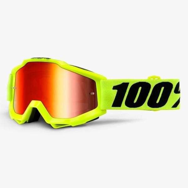Occhiali Motocross 100% Accuri FLUO YELLOW