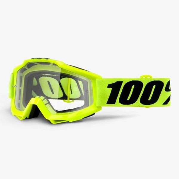 Motocross-Brille 100% Accuri FLUO YELLOW