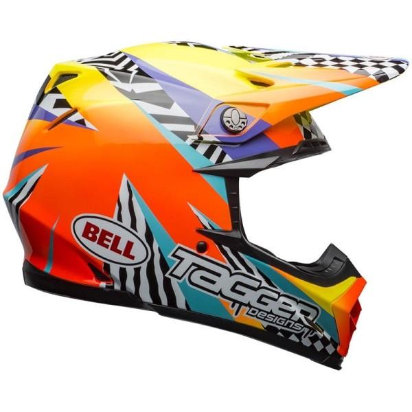Casco Motocross BELL HELMETS MOTO-9 Mips Tagger Breakout