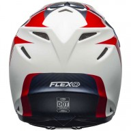 Casco de Motocross BELL HELMETS MOTO-9 FLEX Division White Red