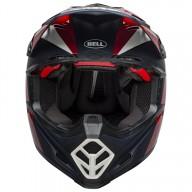 Motocross Helm BELL HELMETS MOTO-9 FLEX Division White Red