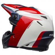 Motocross Helmet BELL HELMETS MOTO-9 FLEX Division White Red