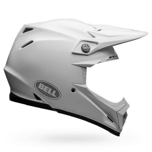 Casco Motocross BELL HELMETS MOTO-9 FLEX Solid White