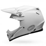 Motocross Helmet BELL HELMETS MOTO-9 FLEX Solid White