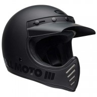 Casco de Motocross Vintage BELL HELMETS Moto 3 Matte Black