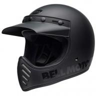 Motocross Helme Vintage BELL HELMETS Moto 3 Matte Black