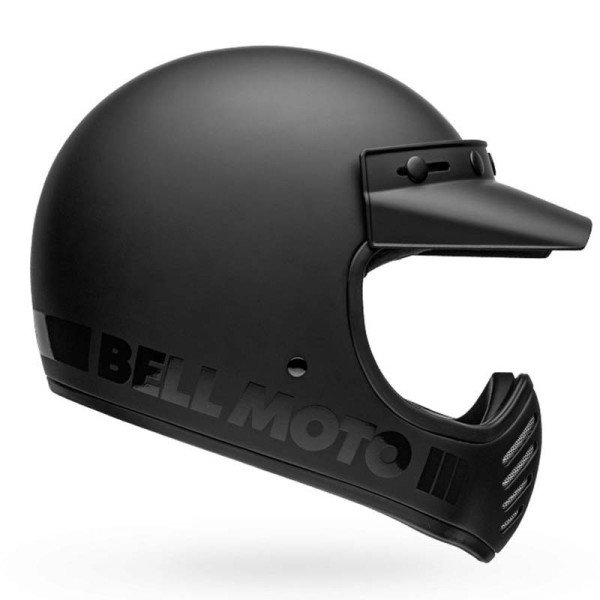 Casque Motcross Vintage BELL HELMETS Moto 3 Matte Black