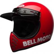 Motocross Helme Vintage BELL HELMETS Moto 3 Rosso