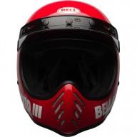 Casco de Motocross Vintage BELL HELMETS Moto 3 Rosso