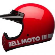 Motocross Helmet Vintage BELL HELMETS Moto 3 Rosso