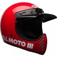 Casque Motcross Vintage BELL HELMETS Moto 3 Rosso