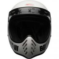 Casco de Motocross Vintage BELL HELMETS Moto 3 Bianco