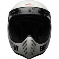 Casque Motocross Vintage BELL HELMETS Moto 3 Bianco