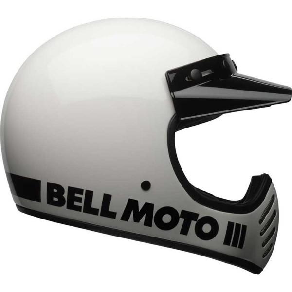 Motocross Helmet Vintage BELL HELMETS Moto 3 Bianco