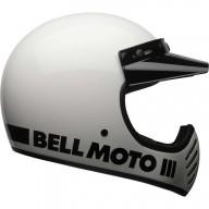 Motocross-Helm Vintage BELL HELMETS Moto 3 Bianco