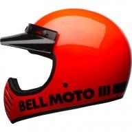 Casco de Motocross Vintage BELL HELMETS Moto 3 Arancione