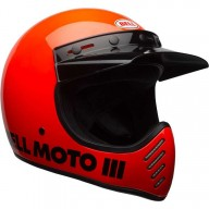 Casque Motcross Vintage BELL HELMETS Moto 3 Arancione