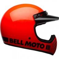 Motocross Helmet Vintage BELL HELMETS Moto 3 Arancione
