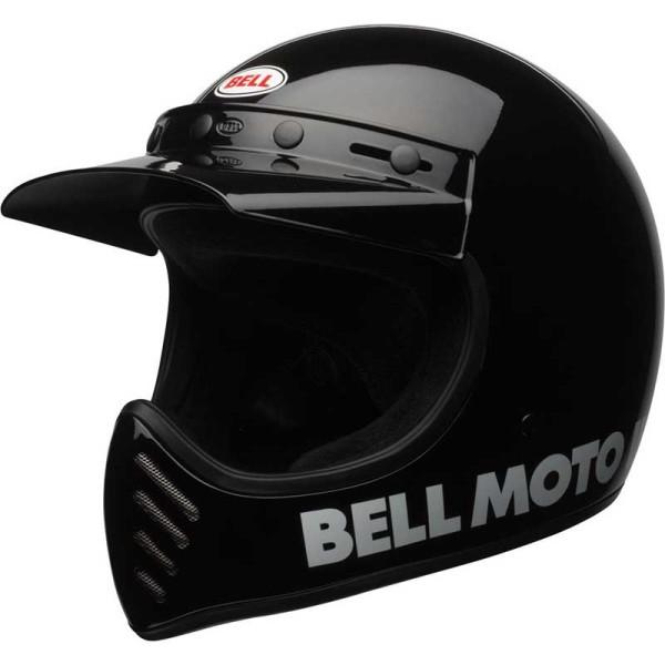 Casque Motcross Vintage BELL HELMETS Moto 3 Nero