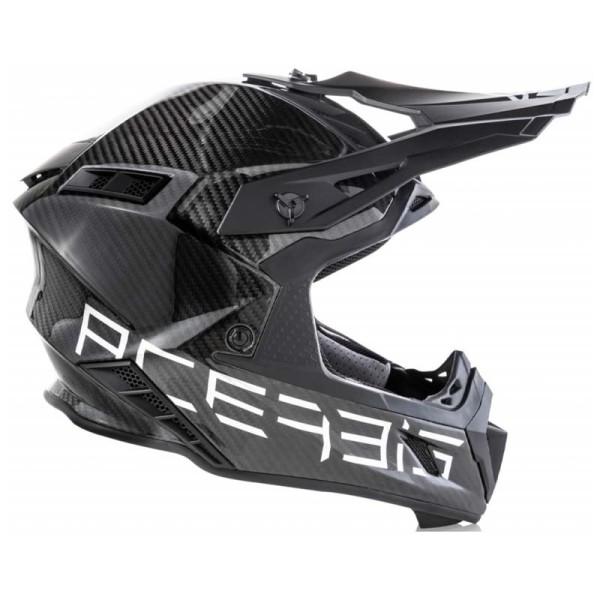 Motocrosshelm Acerbis Steel Carbon Black