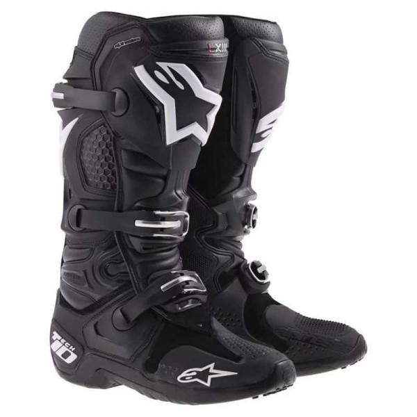 Motocross Boots Alpinestars Tech 10 Black
