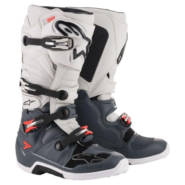 Botas Motocross Alpinestars Tech 7 Light Grey