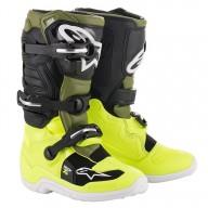 Motocross Boots Alpinestars Tech 7 Yellow Green