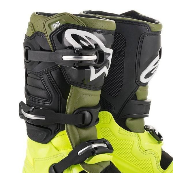 Botas Motocross Alpinestars Tech 7 Yellow Green