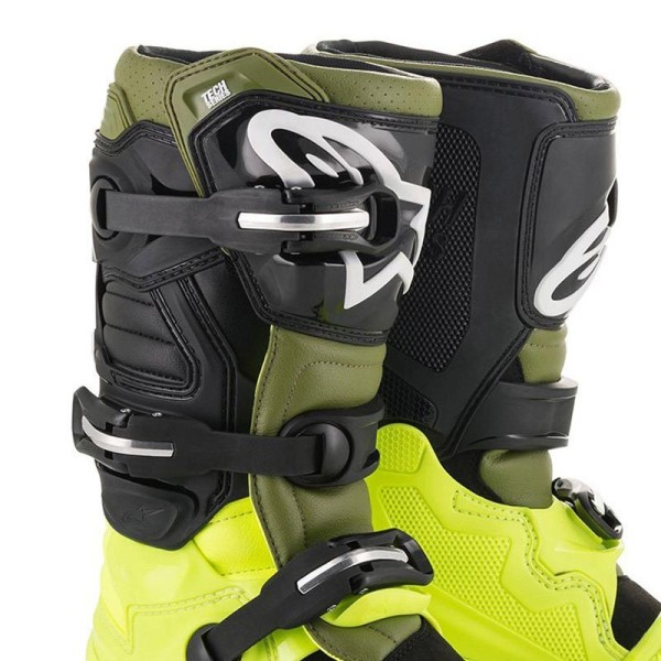 Motocross Stiefel Alpinestars Tech 7 Yellow Green