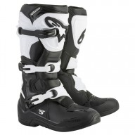Motocross Stiefel Alpinestars Tech 3 Black White