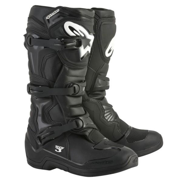 Motocross Boots Alpinestars Tech 3 Black