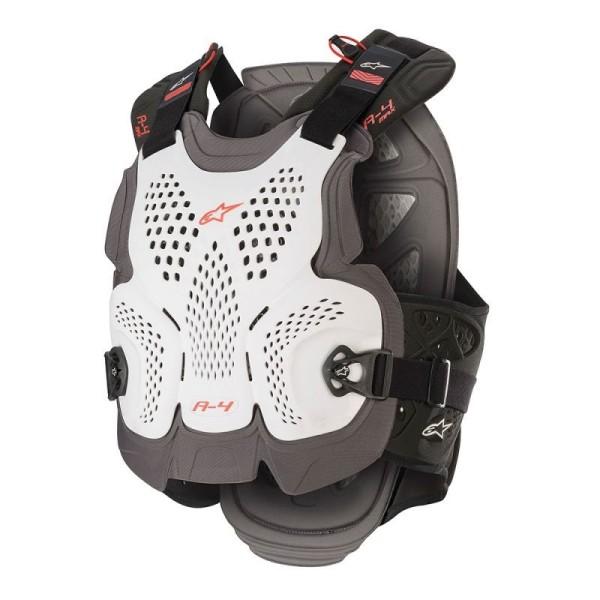 Plastron Protecteur Motocross Alpinestars A-4 Max White