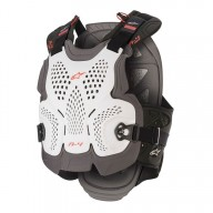 Chest Roost Protective Motocross Alpinestars A-4 Max White