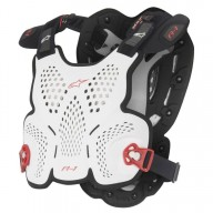 Chest Roost Protective Motocross Alpinestars A-1 White