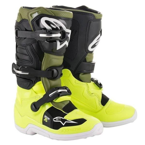 Minicross Boots Alpinestars Tech 7S Yellow Green