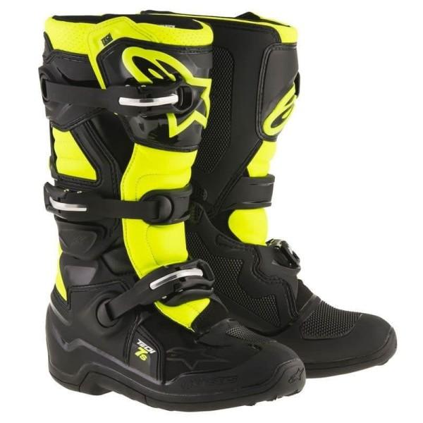 Minicross Boots Alpinestars Tech 7S Black Yellow