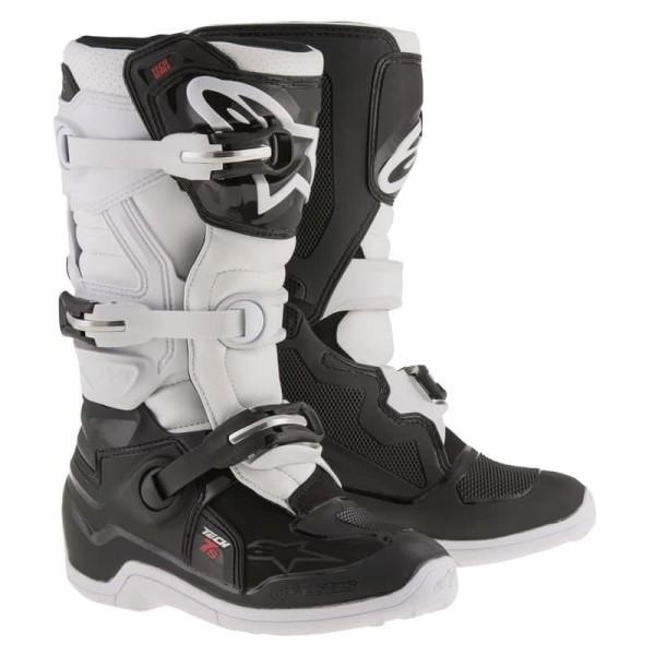 Minicross Stiefel Alpinestars Tech 7S Black White