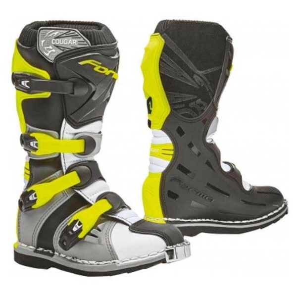 Bottes Minicross FORMA Cougar Gris Fluo
