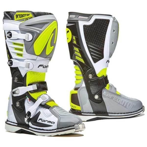 Bottes Motocross FORMA Predator 2.0 Gris Fluo