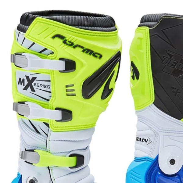 Motocross Stiefel FORMA Terrain TX Gelb Fluo Blau