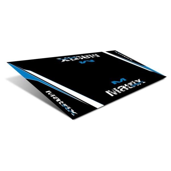 Tapis Motocross Matrix Race Mat R2 Bleu