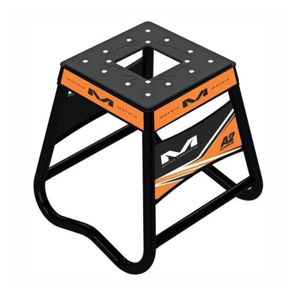 Caballete Motocross Matrix Aluminum Stand A2 Naranja