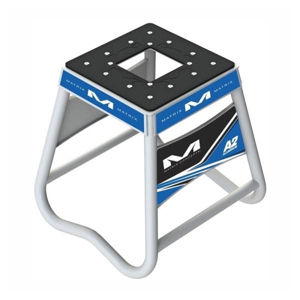 Caballete Motocross Matrix Aluminum Stand A2 Azul