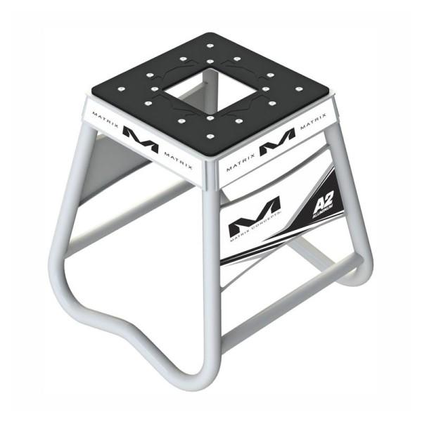 Motocross Hubstander Matrix Aluminum Stand A2 Weiss